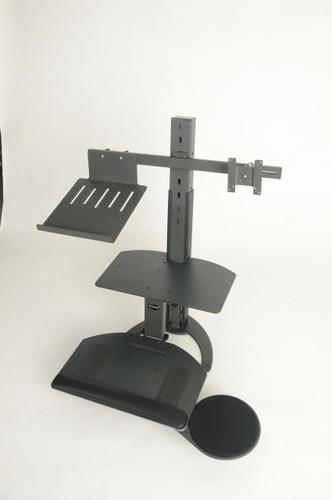 Convert Desktop Into Sit Stand Workstation Standing