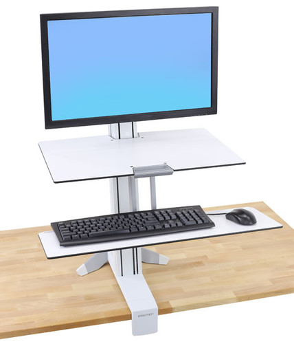 WorkFit-S, Single LD with Worksurface+ (white)