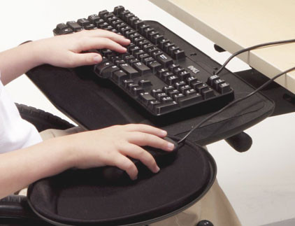 Full Articulating Keyboard Tray And Mouse Platform Afs Aka2