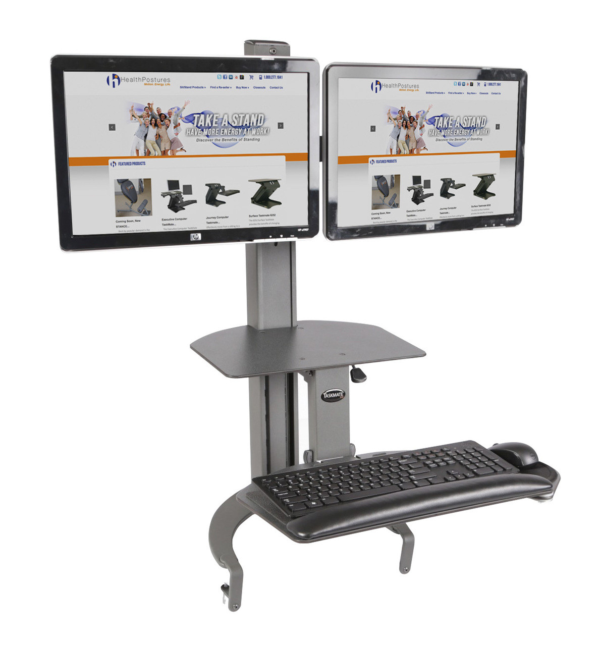 6350 Taskmate Go With Dual Monitor Arm Hps 6350