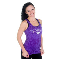 side view of Stroke it Tank in Purple