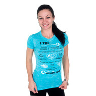 I Tri T-shirt in Tahiti blue.