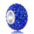 Blue Swarovski crystal bead.