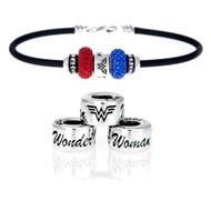Wonder Women European Bracelet with crystal beads.