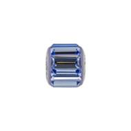 Blue crystal baguette bead. Fits Pandora