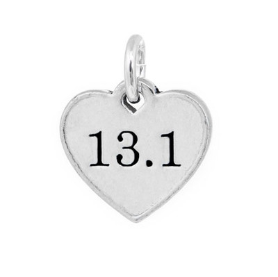 13.1 heart shaped pewter mini charm