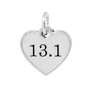 13.1 heart shaped pewter mini charm