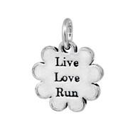 Live Love Run Pewter mini tag