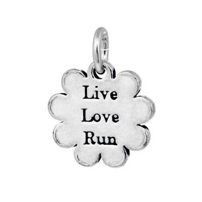 Live Love Run Pewter mini tag