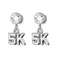 5K CZ Stud Earrings