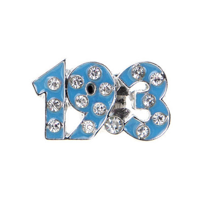 19.3 cutout sneaker charm, Blue with clear crystals.