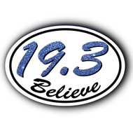 19.3  Believe Oval car sticker or magnet.