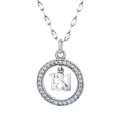 13.1 CZ Princess Pendant on star chain