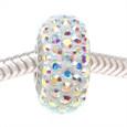 AB Clear Swarovski crystal European bead for Pandora style bracelets.