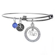 48.6 Dopey Challenge crystal bangle bracelet