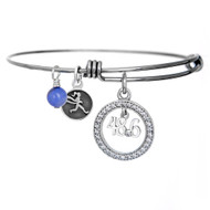 48.6 Dopey Challenge crystal bangle bracelet