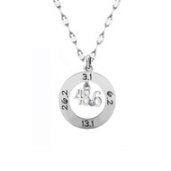 48.6 round pendant with dangle in center on star chain