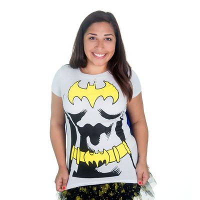 Front of Batgirl caped running tee.