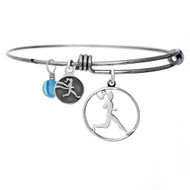 Runner Girl adjustable bangle bracelet.