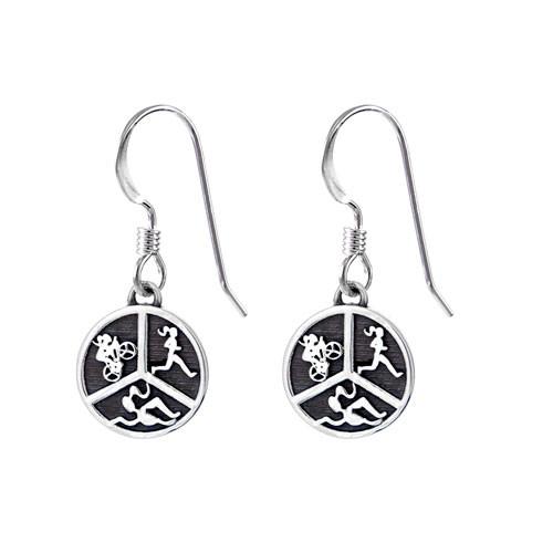 Triathlon hook earrings