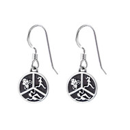 Triathlon hook earrings