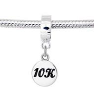 Round 10K charm on a bail, fits most European bracelets