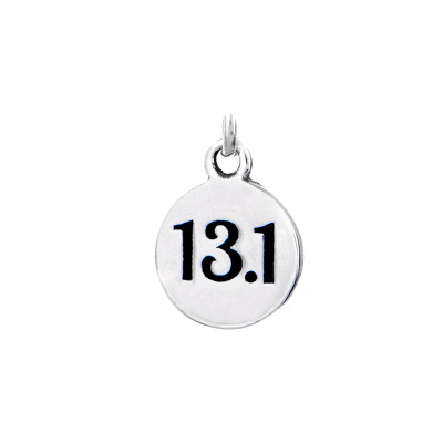 Mini 13.1 round charm in sterling silver