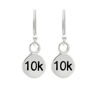 10K sterling silver mini charm dangle earrings.
