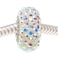 AB Clear Swarovski Crystal European bead.