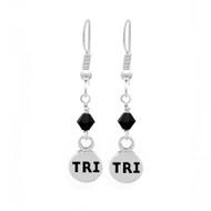 Tri Mini Charm Crystal Dangle Earings