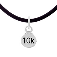 10K Mini Charm Cord Necklace