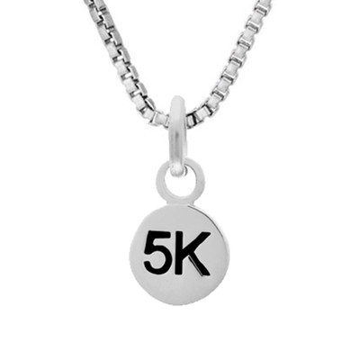 5K Mini Charm On Box Chain Necklace
