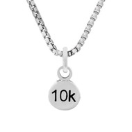 10K Mini Charm On Box Chain Necklace