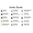Choice of natural gemstones.