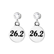 26.2 round earrings on cubic zirconia posts.