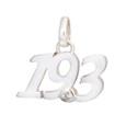 Sterling silver 19.3 script pendant.