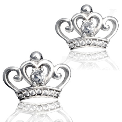Small Tiara post earrings.