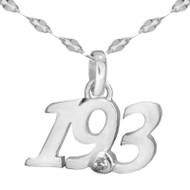 19.3 script pendant on boa star chain.