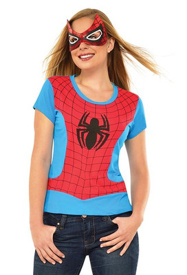 Close up of Spider-Girl T-Shirt