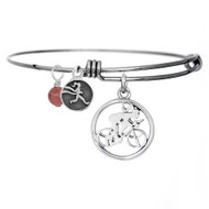 Womens cycling bangle bracelet.
