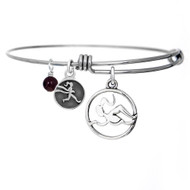 Womens Swimmer bangle bracelet.