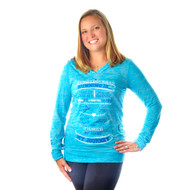 Running Is...My Journey, Tahiti blue hoodie.