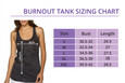 Sizing Chart for She Rocks Tri Tank.