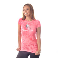 Running Diva pink burnout t-shirt