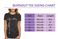 Sizing Chart for Running Like a Diva Burnout Shirt.