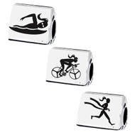 3 sided triathlon beads