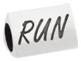 Runner Girl bead with word RUN.