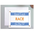 Good Luck on your race, GO FOR IT Greeting card for runners or Triathletes.
