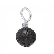black moon rock gemstone drop.