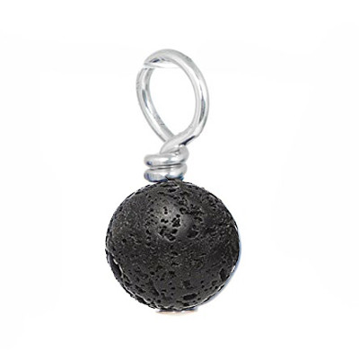 black moon rock gemstone drop.